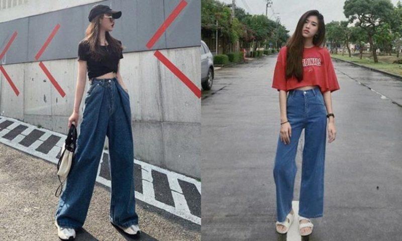 กางเกงขากระบอกใหญ่